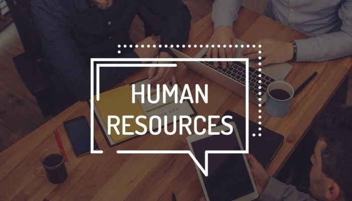 human resources on wooden table