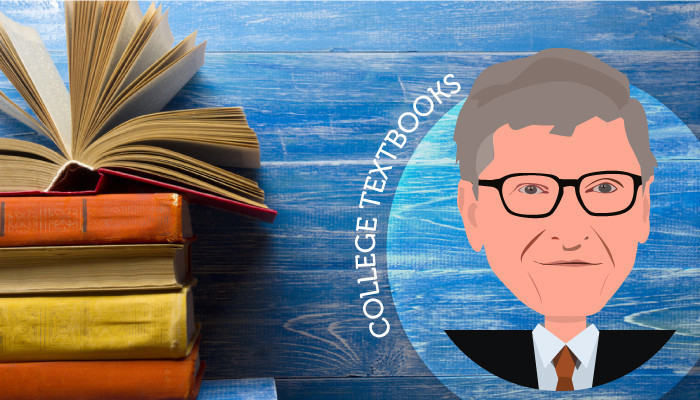 bill gates free college textbooks