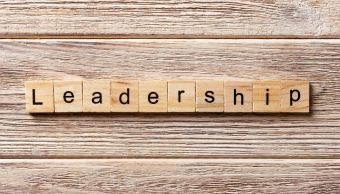 Leadership on wooden blocks