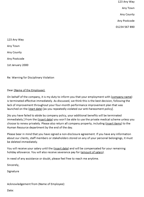 Termination Letter For Misconduct from cdn2.careeraddict.com