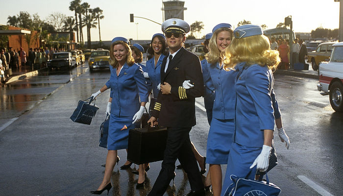 Leonardo Di Caprio as Frank Abagnale Jr in Catch Me If You Can (2002)