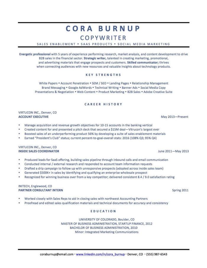 Career changer CV example