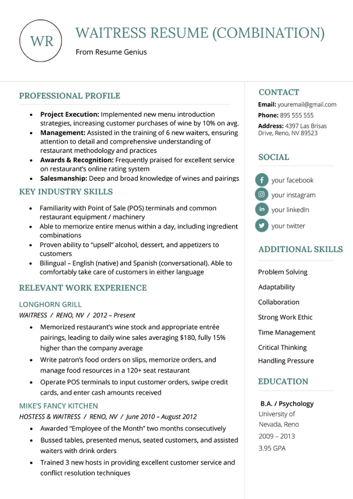 The 8 Best Cv Formats To Land A Job Examples